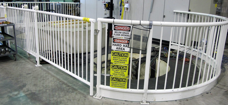 Lot 47 - VAULT FENCING/GATES (OVAL SHAPE) 29'L X 12 1/2'D
