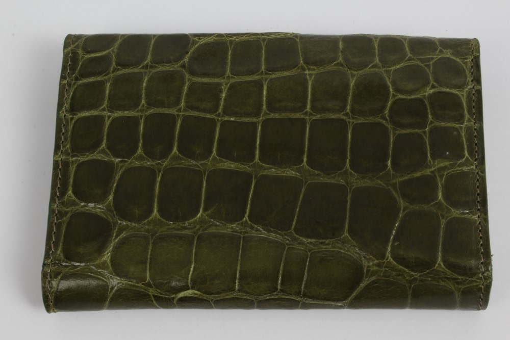 Modern Green Leather Key Wallet By Asprey Textured To