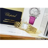 *WOW* Chopard Diamond 'H' / Your Hour 18k Gold and Diamonds w/ Mother of Pearl Dial