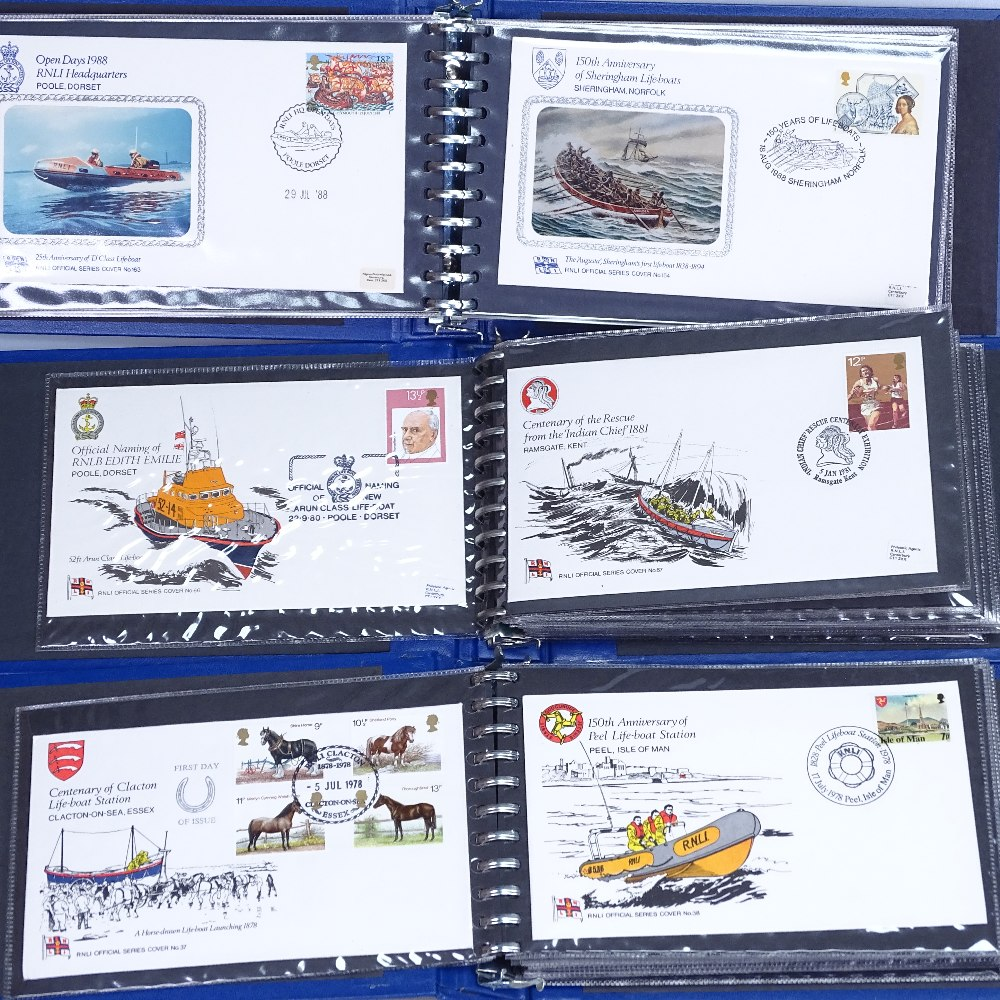 Lot 34 - 4 albums of RNLI First Day Covers