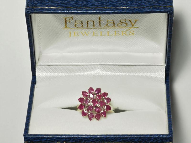 Lot 4 - Sterling Silver Ruby (3.80ct, July Birthstone) Flower Ring. Insurance Value $500 (4-NT128)