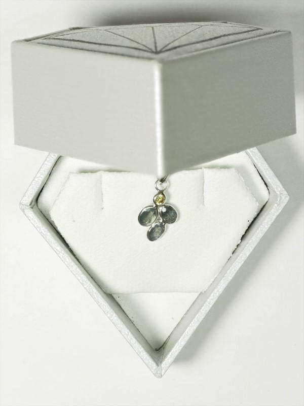 Lot 28 - 14K White Gold 3 Rare Alexandrite (1.14ct, June Birthstone) and Diamond (0.10ct) Pendant. Insurance