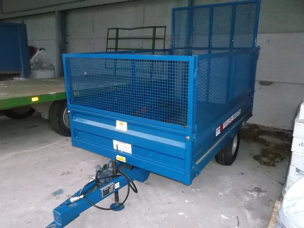 AS Marston CM 2.5 drop sided tipping trailer with wire extensions ...