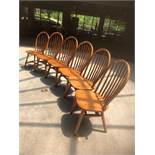 Wooden Hunt Oak Spinal Unarmed Chairs