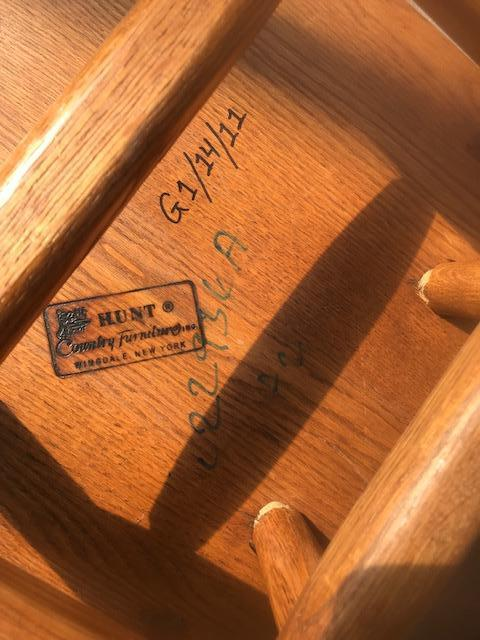 Wooden Hunt Oak Spinal Unarmed Chairs - Image 3 of 4