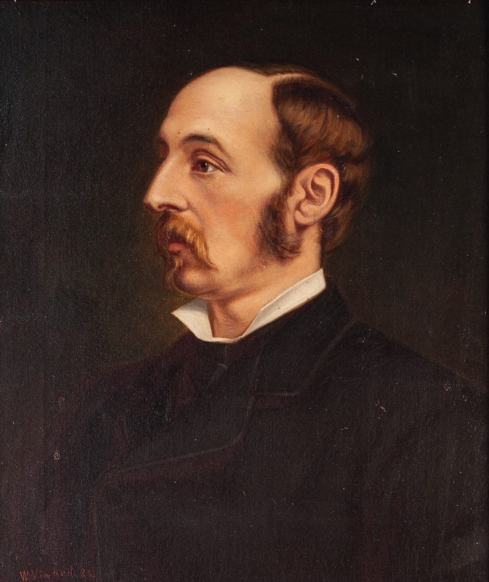 Lot 254 - W. VIMARD (LATE 19th CENTURY) OIL PAINTING ON CANVAS Portrait of a gentleman, bust length almost