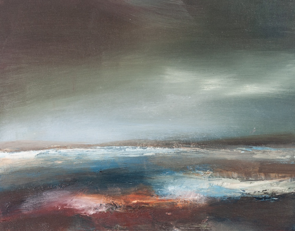 """Lot 215 - CONTEMPORARY OIL PAINTING ON BOARD Seascape Unsigned 8"""" x 10"""" (20.3 x 25.4cm)"""