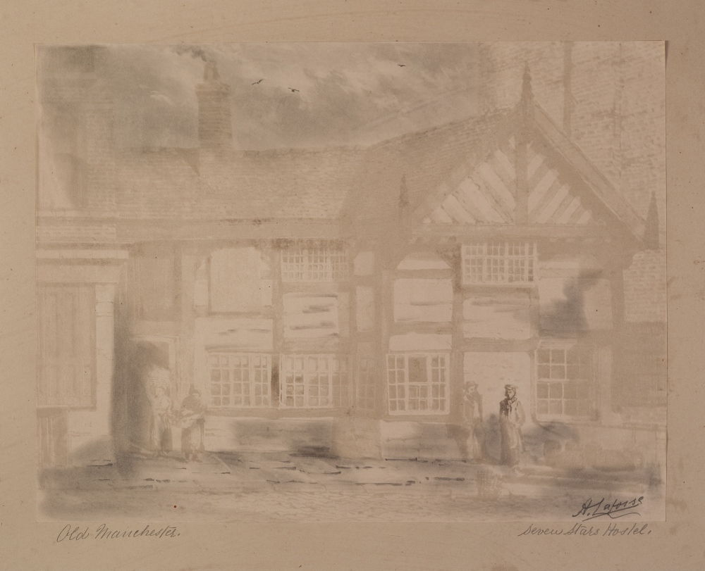 "Lot 346 - A. LAFOSSE (1810 - 1879) INK AND PENCIL Seven Stars Hotel, old Manchester 12"" x 15"" (30 x 38 cm)"