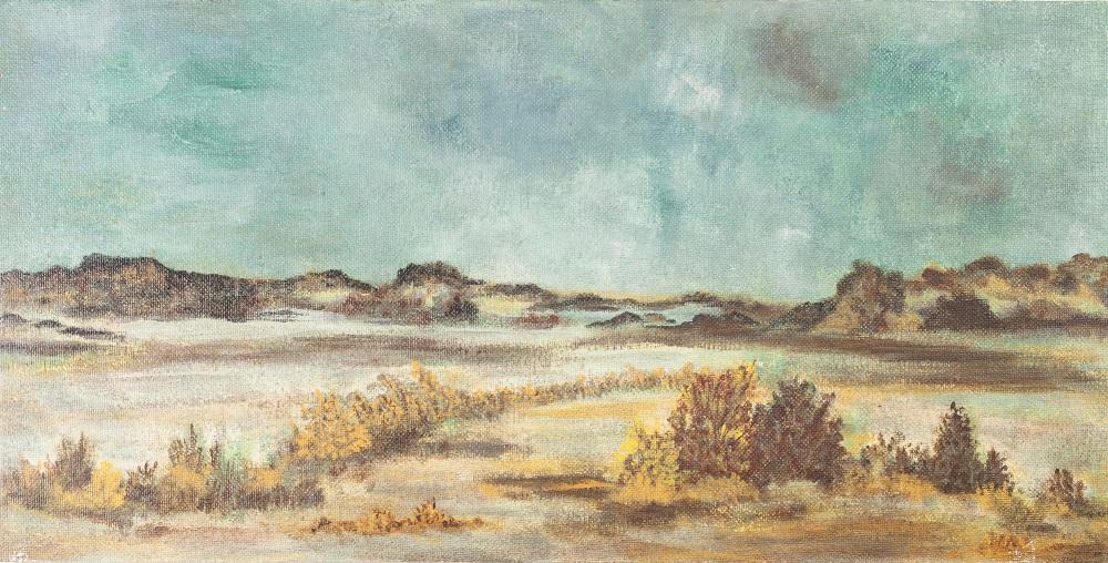"Lot 256 - MARGARET McCARTNEY OIL PAINTING ON BOARD Landscape study Unsigned 12"" x 24"" (30.4 x 60.9cm)"