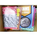 COINS AND MEDALS MAGAZINE, various back issues mainly from the 1970's, lots of information
