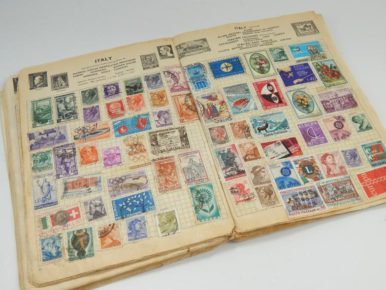 A Stanley Gibbons Gay Venture stamp album, and a collection