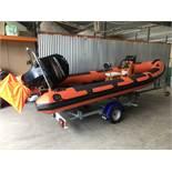 5.3 Metre 80 HP Humber RIB Boat