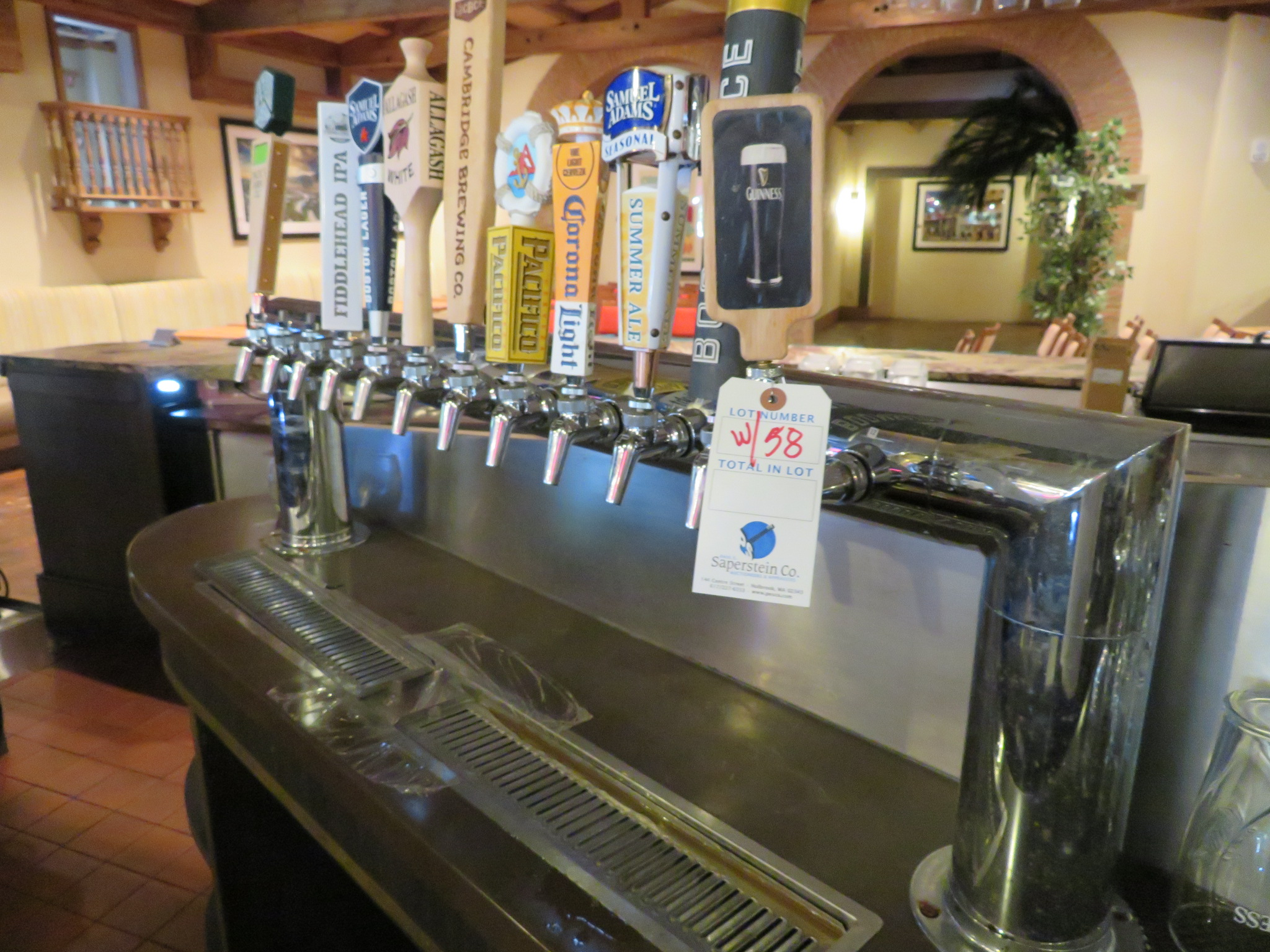 Lot 58 - (Lot) Perlick Beer Draught System w/ Bar Top Beer Taps & Pumps System