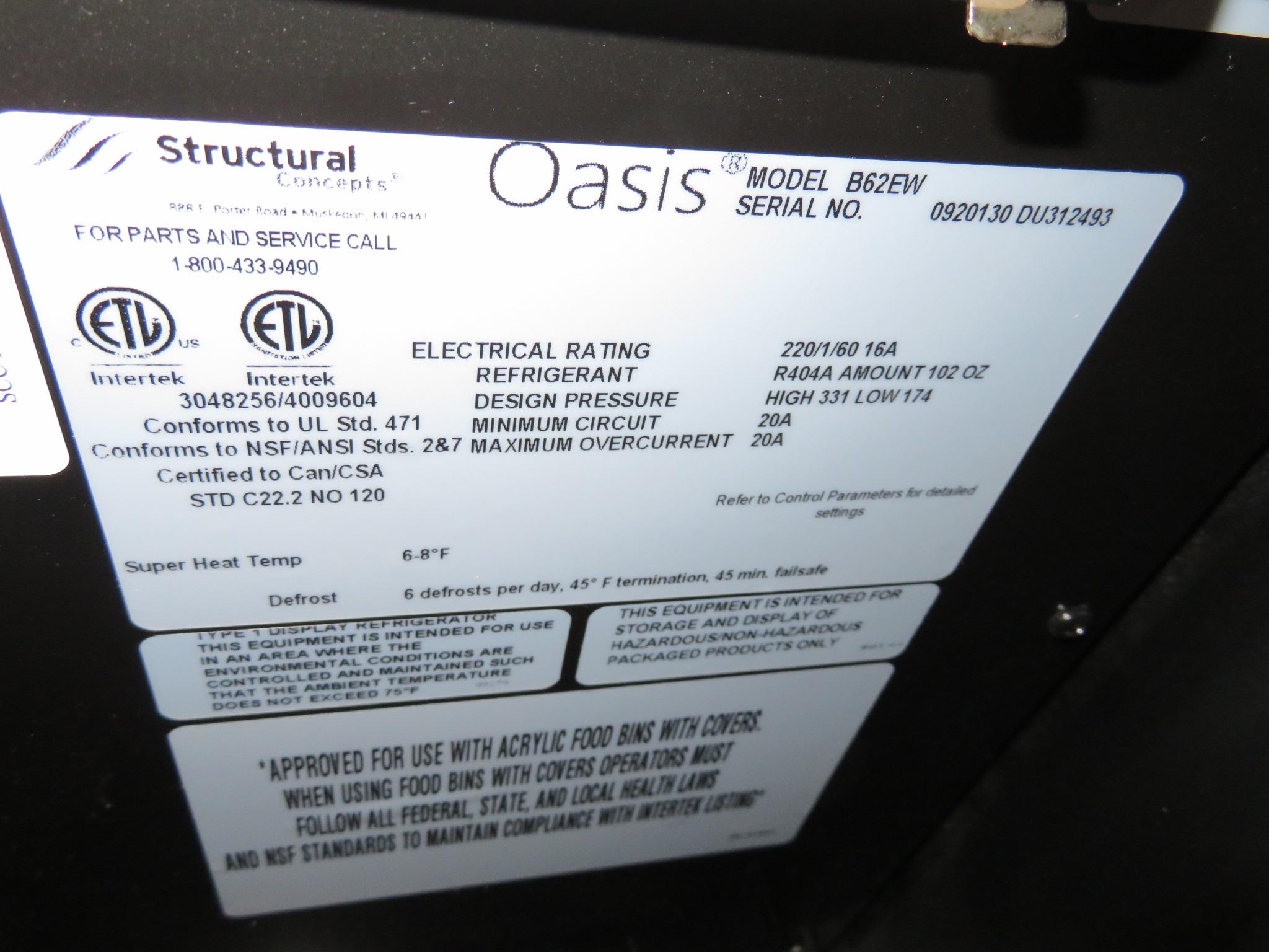 "Lot 63 - Structural Oasis # B62EW 72"" Self Service S.C Illum Case"