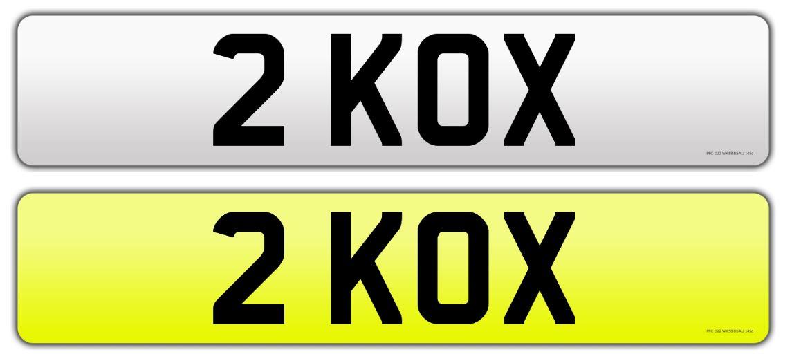 Registration number 2 KOX
