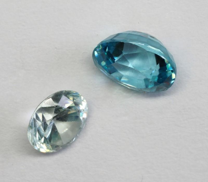 Lot 40 - Natural Rare Blue Zircon(app 2cts, Assorted Shapes) (Authentic December Birthstone), Retail $200 ( G