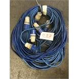 3x 30m arctic blue cable, 32a ends