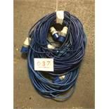 3x 30m arctic blue cable, 16a ends