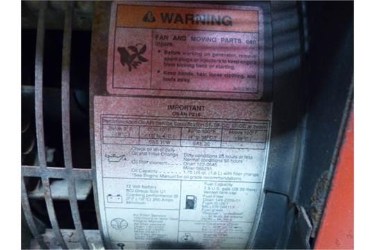 CANOX REDCAT II GAS WELDER/GENSET ONAN 16HP GAS ENGINE