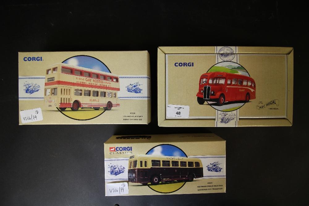 Lot 48 - Corgi Classics Public Transport 97810, 97230, 97187 and Commercial
