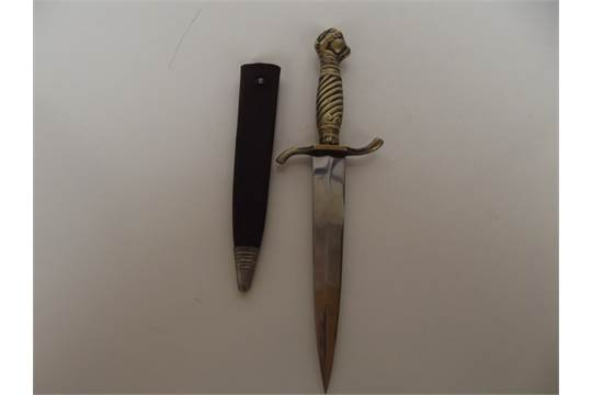 Vintage dagger with ball and claw finial, by Jacobs & Co