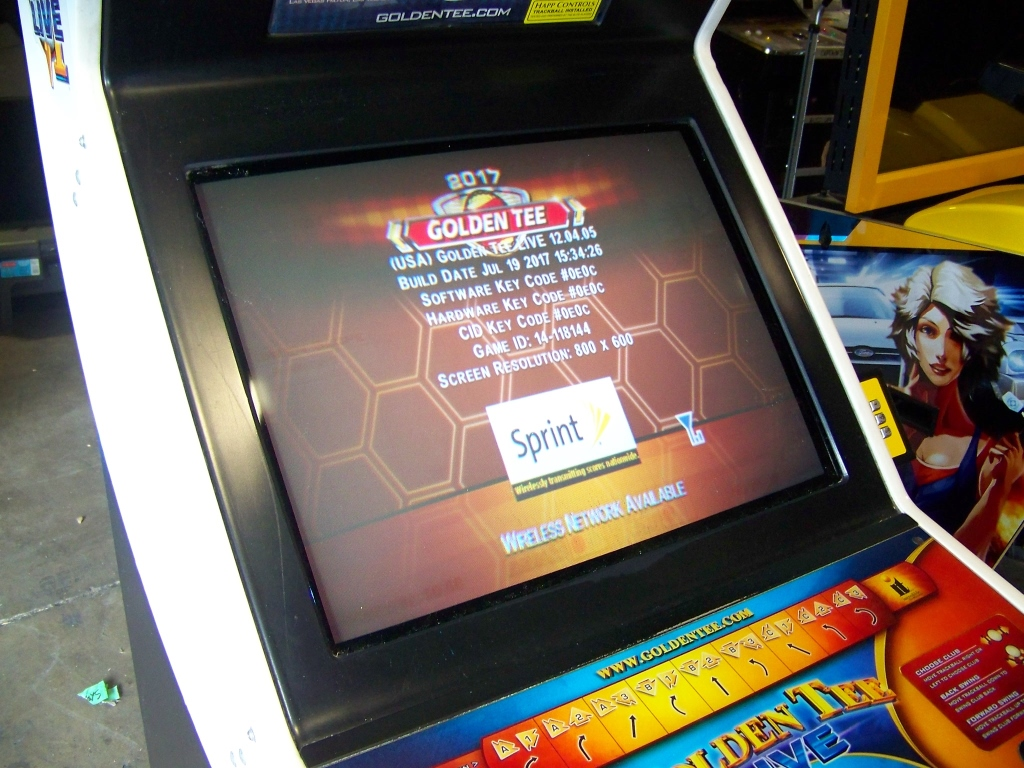 Lot 163 - GOLDEN TEE LIVE 2017 GOLF DEDICATED ARCADE GAME