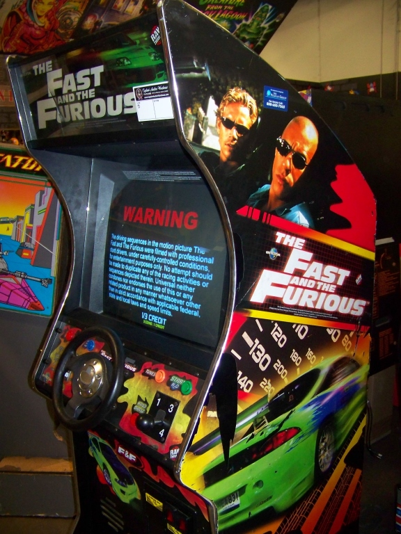 Lot 195 - FAST & FURIOUS UPRIGHT DEDICATED ARCADE GAME