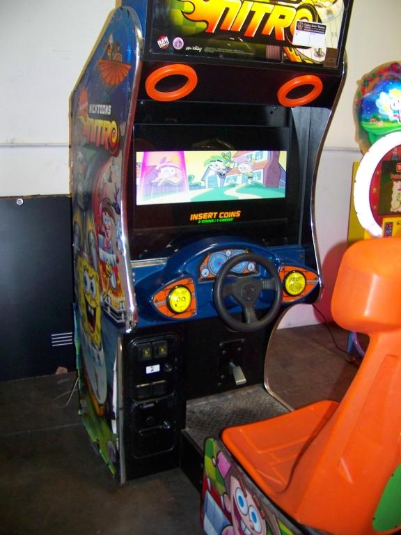 Lot 158 - NICKTOONS NITRO SITDOWN DRIVER ARCADE LCD UPGRADE