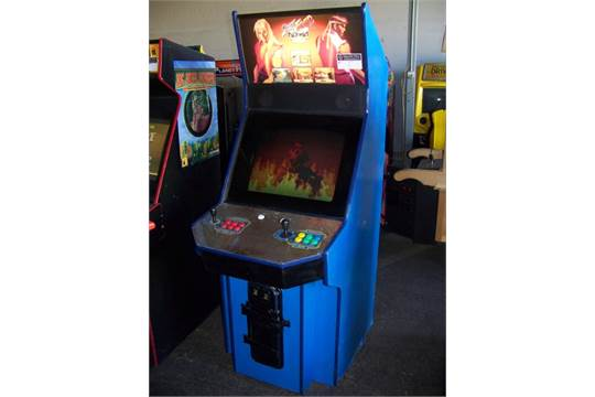 Street Fighter Alpha 2 Big Blue Cab Arcade Game Item Is In Used