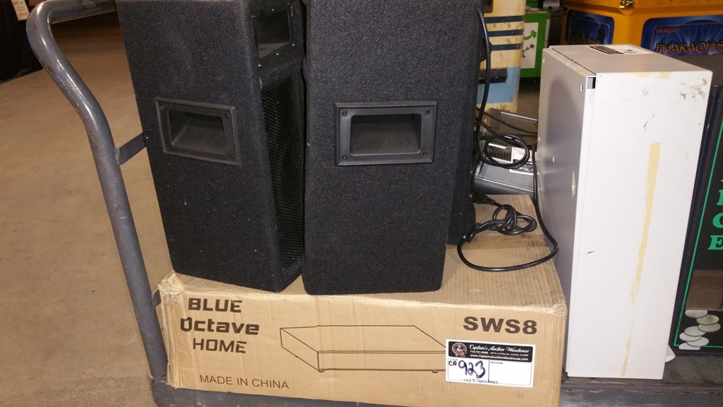 Lot 923 - BLUE OCTAVE HOME SYSTEM POWER AMP AND SPEAKER SYSTEM