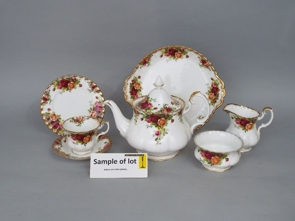 Lot 35 - A collection of Royal Albert Old Country Roses pattern teawares including teapot, cake plate, two