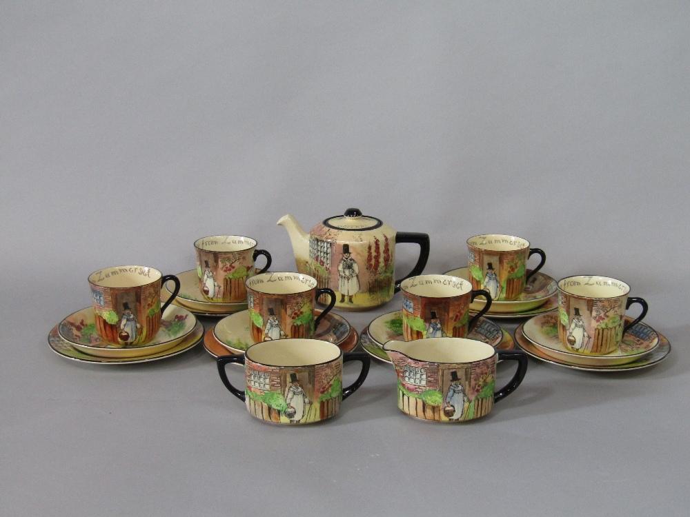 A collection of Royal Doulton Gaffers series ware teawares comprising teapot, milk jug, sugar