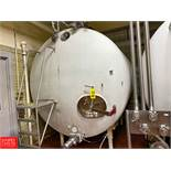 2,500Gallon S/S Horizontal Tank, With Air Valves And Sensors Rigging Fee: $1550