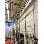 """Approx 120', 2"""" 2"""" S/S Pipe, With Air Valves Rigging Fee: $200"""