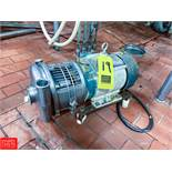 Tri Clover 5 Hp. Centrifugal Pump Model 2C1AMD18T-S, With S/S Head Clamp Type Rigging Fee: $75