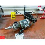 Tri Clover Centrifugal Pump Mounted On Cart, With S/S Head Clamp Type Rigging Fee: $75
