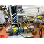Ampco 3 Hp. Positive Displacement Pump Model ZP1-030DM, Clamp Type Rigging Fee: $100