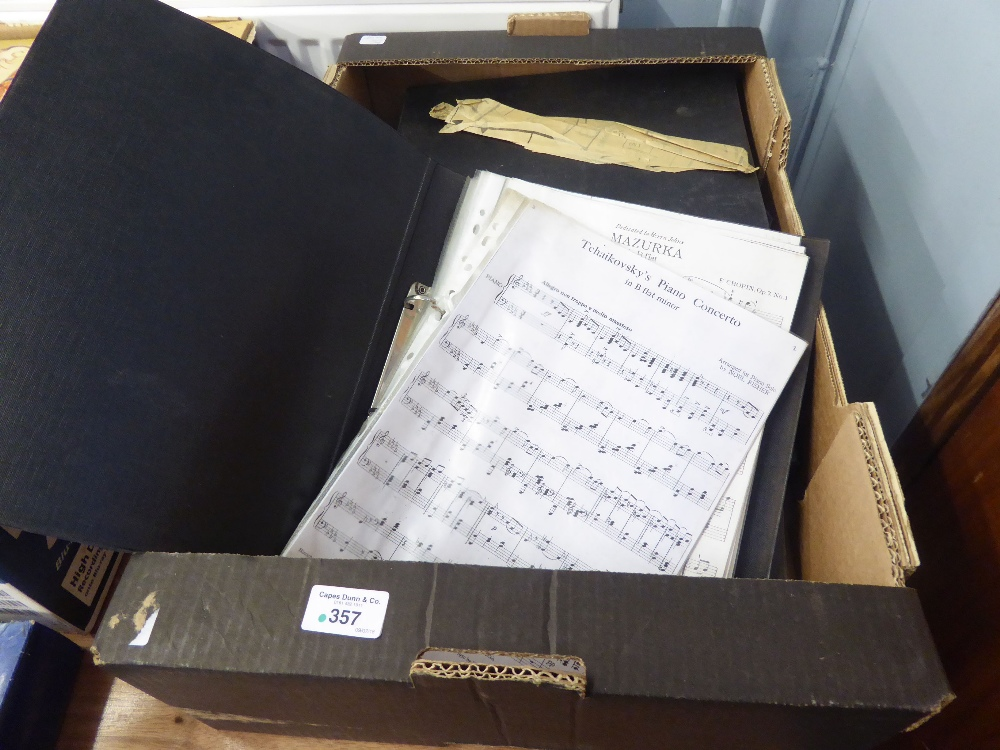 Lot 357 - A COLLECTION OF SHEET MUSIC (7 BINDERS)