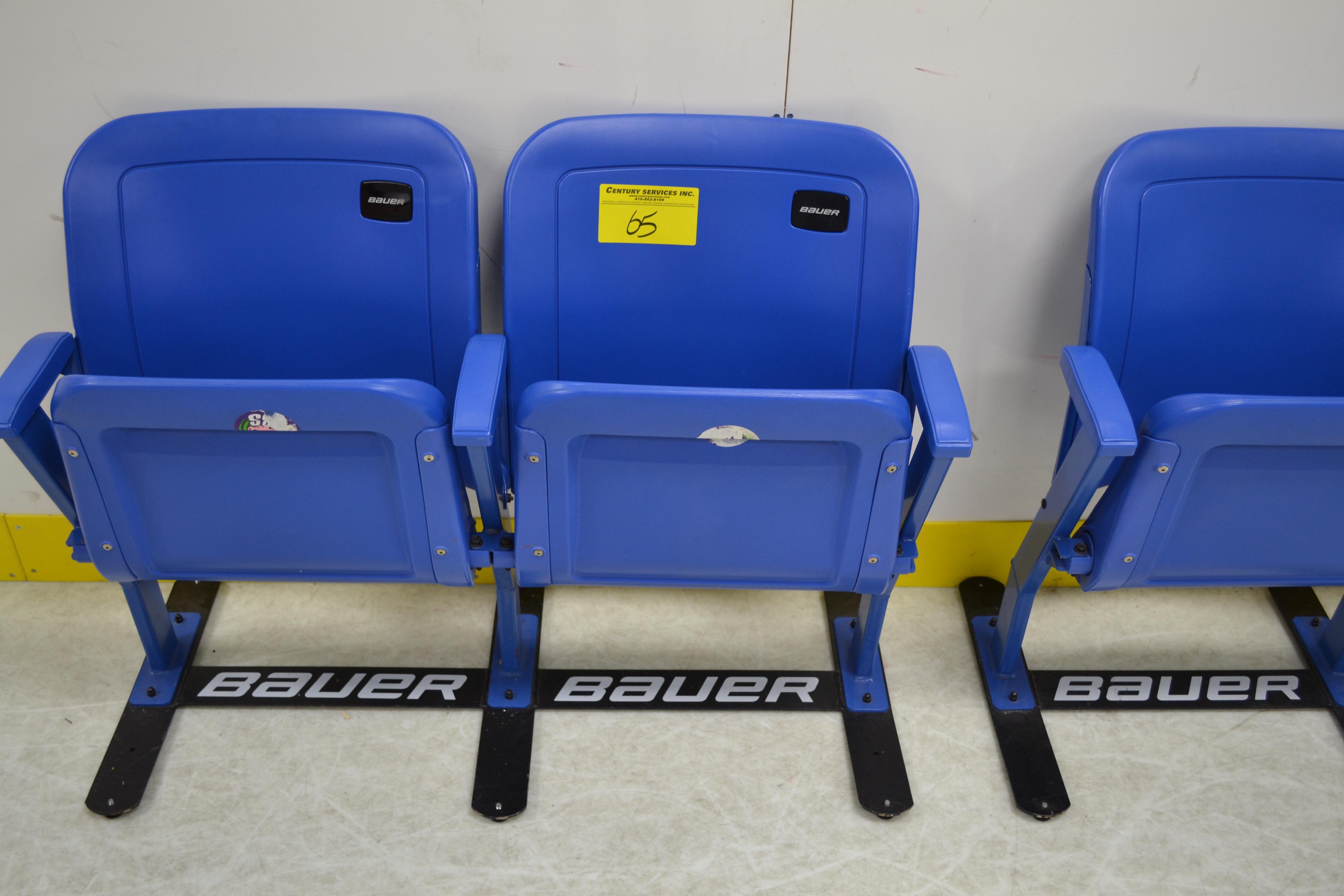 Bauer 2 seat stadium chairs
