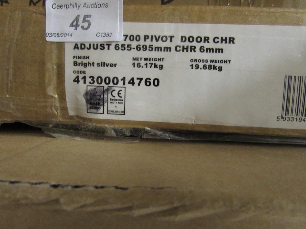 700mm Pivot Shower Door