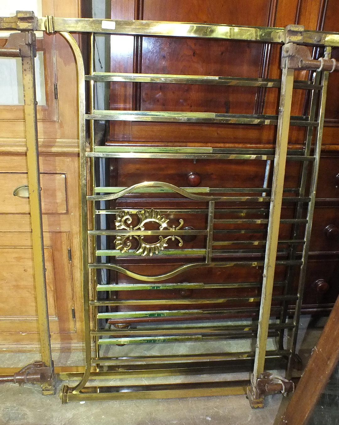 Lot 20 - A Victorian 4' 6'' brass bed.