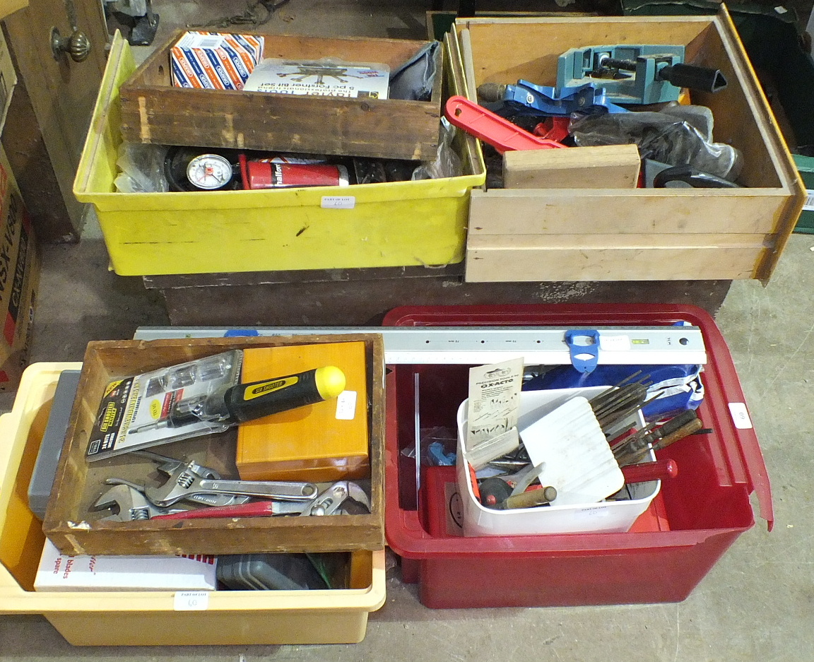 Lot 60 - A collection of hand tools and other items.