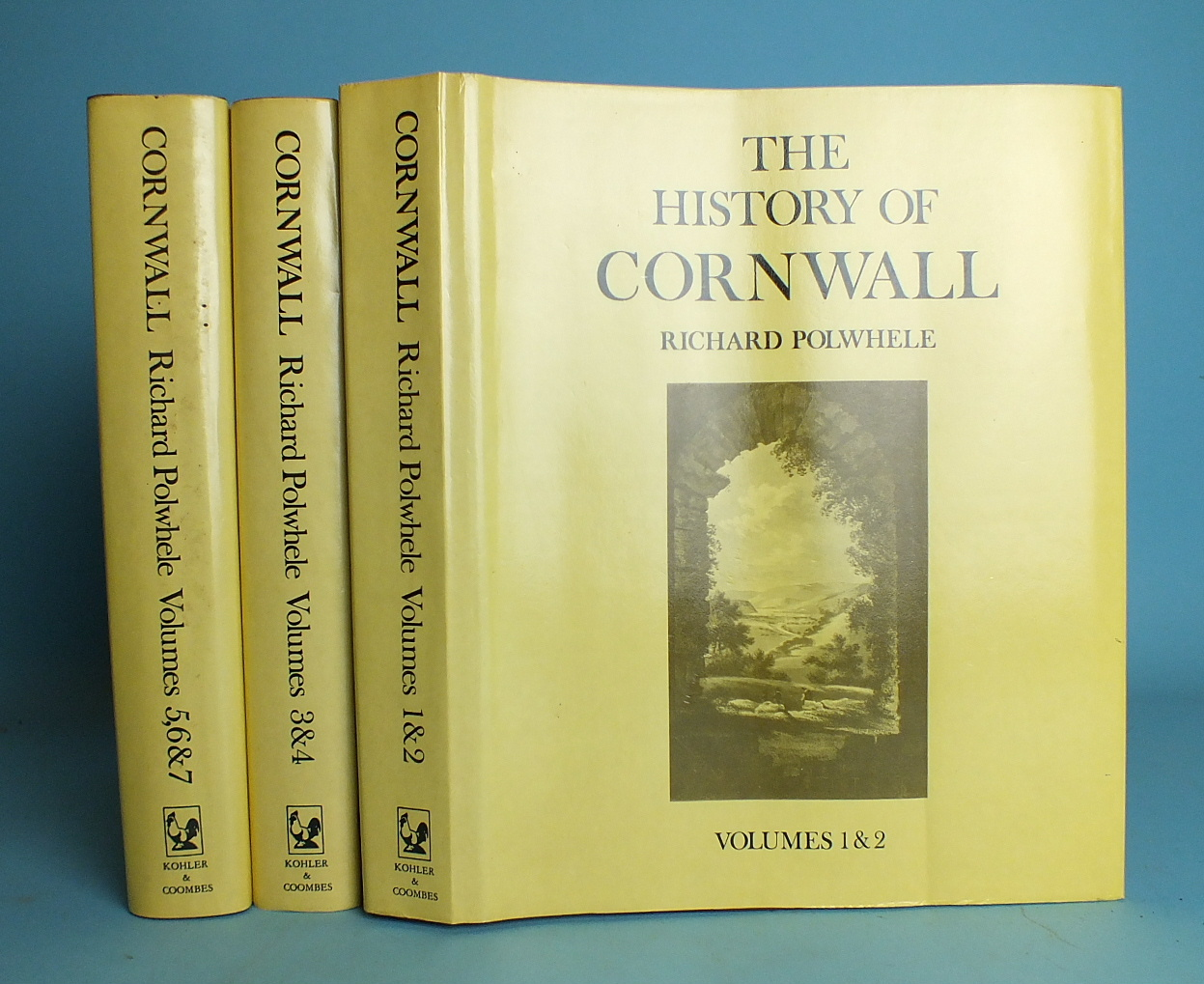 Lot 168 - Polwhele (Richard), The History of Cornwall, facsimile of seven volumes, bound as three, dwps, cl