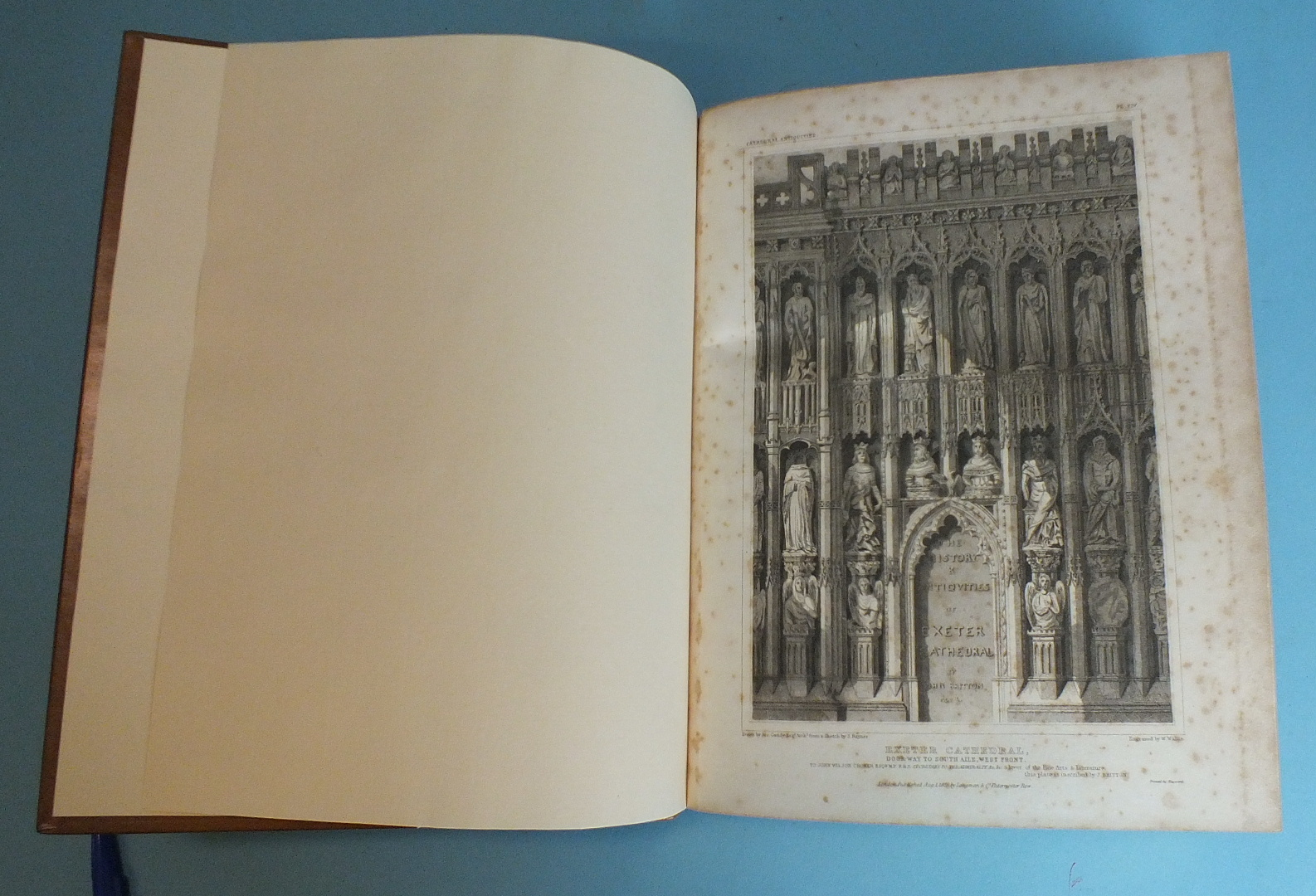 Lot 172 - Britton (John), The History and Antiquities of the Cathedral Church of Exeter, engr tp and 21 engr