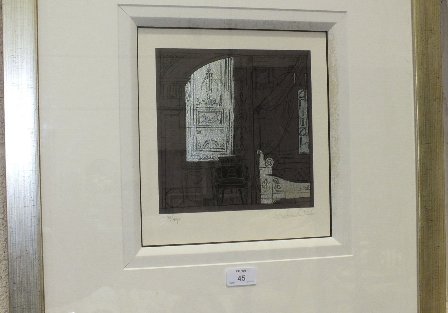 Lot 45 - After Lavene?, 'Architectural Interior Design' limited edition print, 303/495, signed in pencil