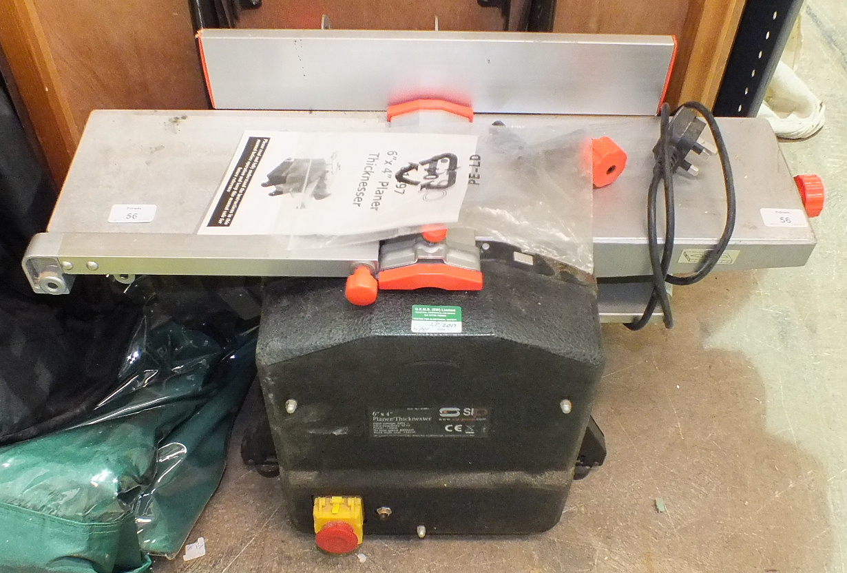 Lot 56 - An S I P 6'' X 4'' planer thicknesser.