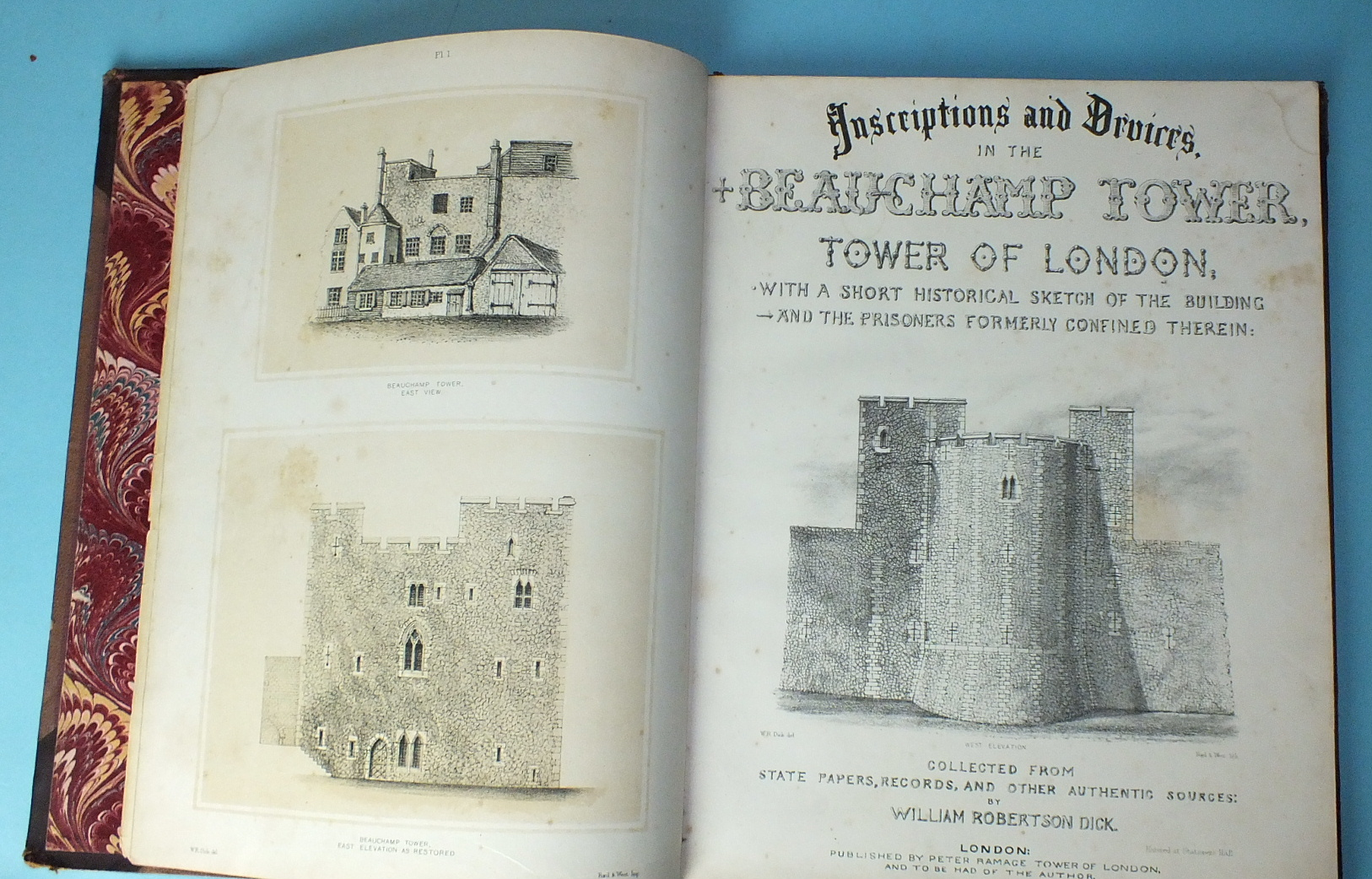 Lot 163 - Dick (William Robertson) Inscriptions and Devices in the Beauchamp Tower, litho frontis, tp and