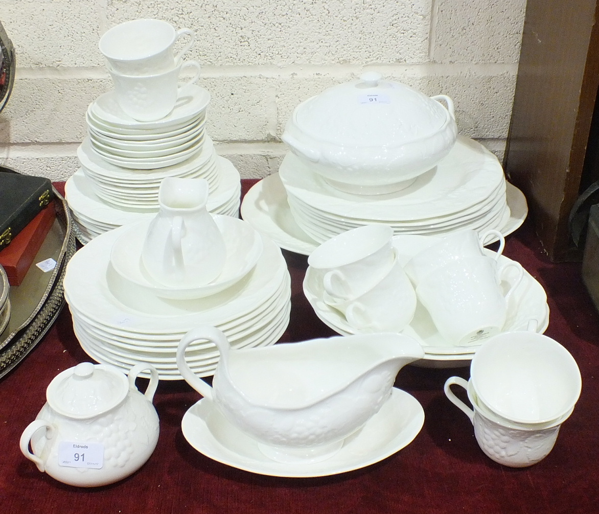 Lot 91 - Fifty-seven pieces of Wedgwood 'Strawberry and Vine' tea and dinner ware.
