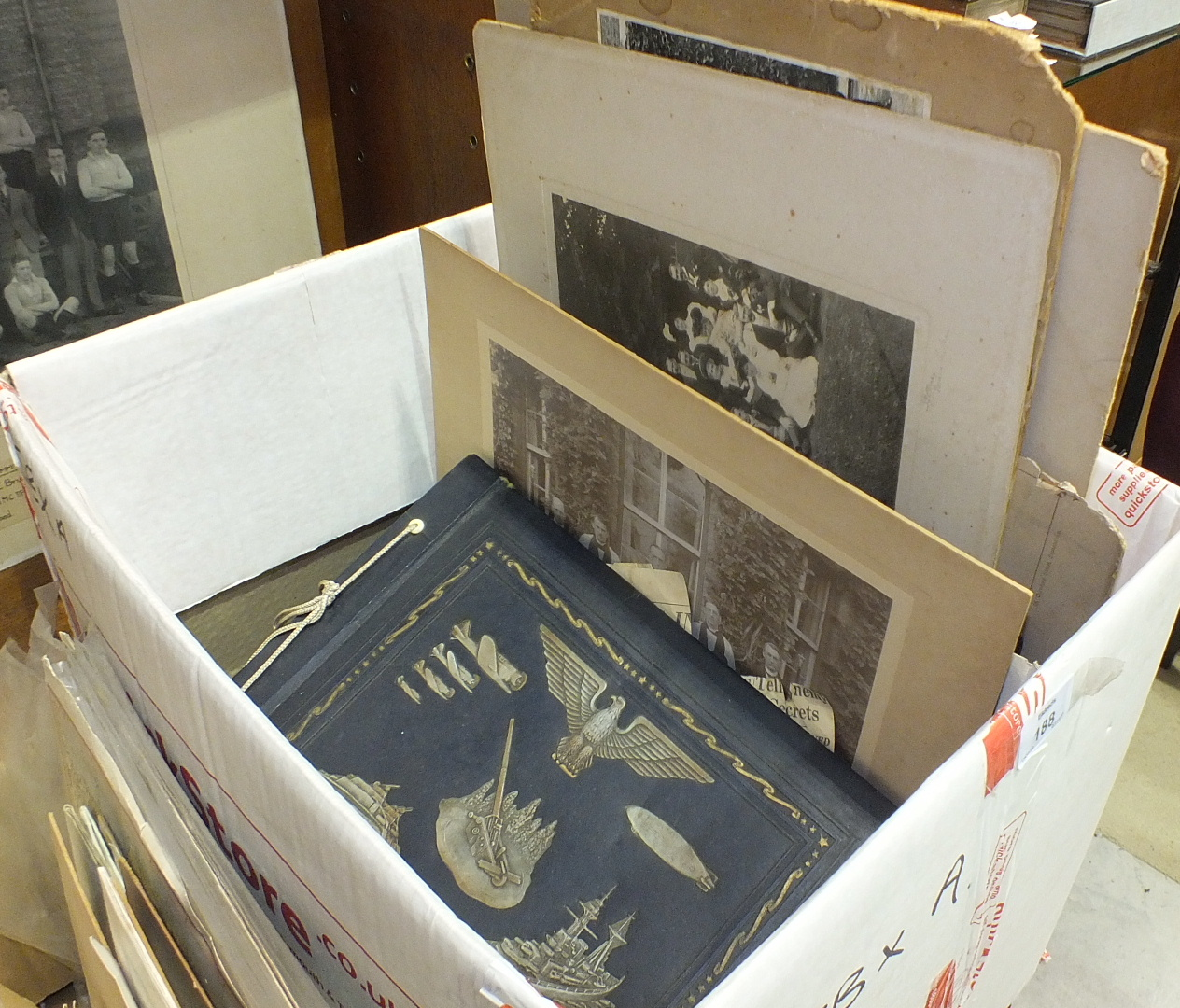 Lot 188 - A collection of WWI and WWII photographs, ration books and ephemera.