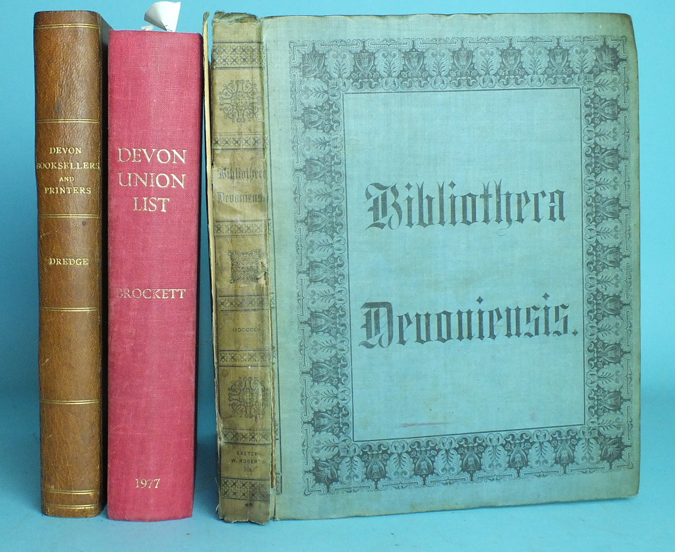 Lot 171 - Davidson (James), Bibliotheca Devoniensis - A Catalogue of The Printed Books Relating to the